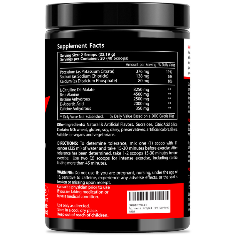 Winners Pre Workout Powder